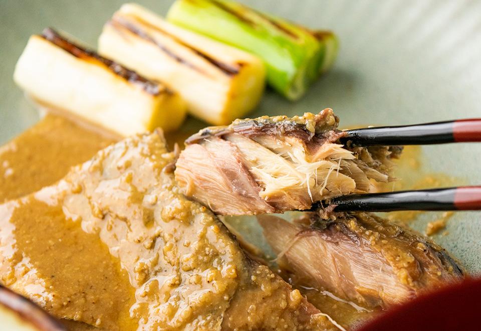 鯖胡麻味噌