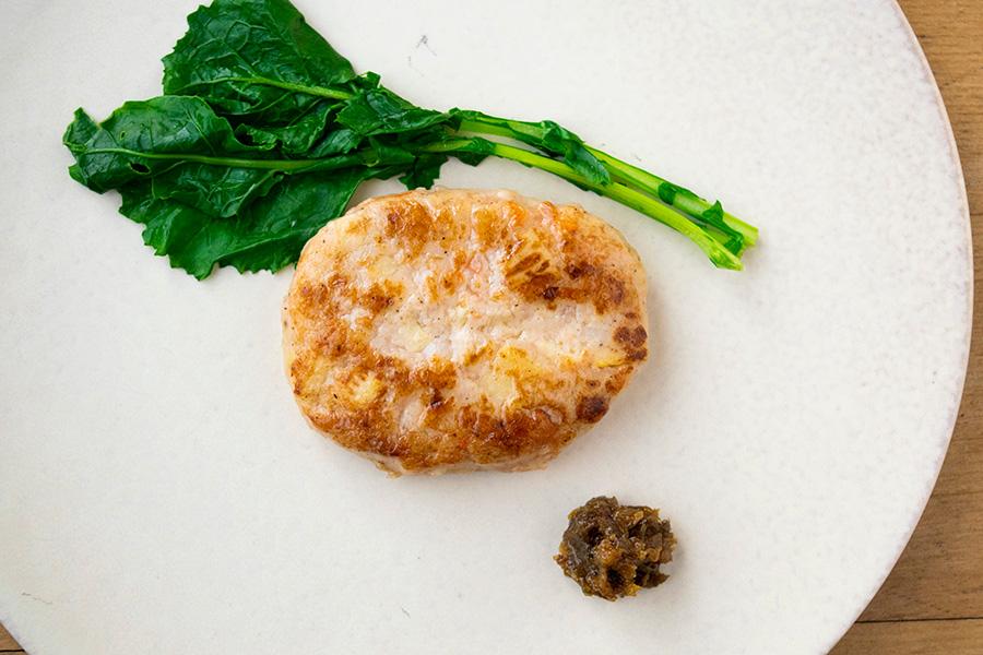 海老と筍のハンバーグ