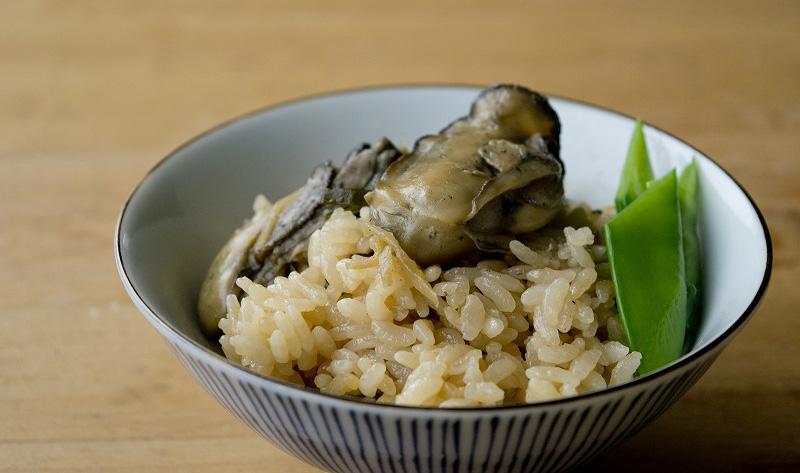 オイスターソースの牡蠣炊き込みご飯