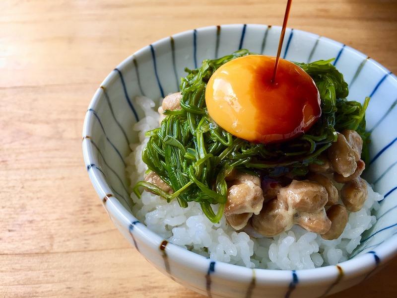 めかぶ納豆丼