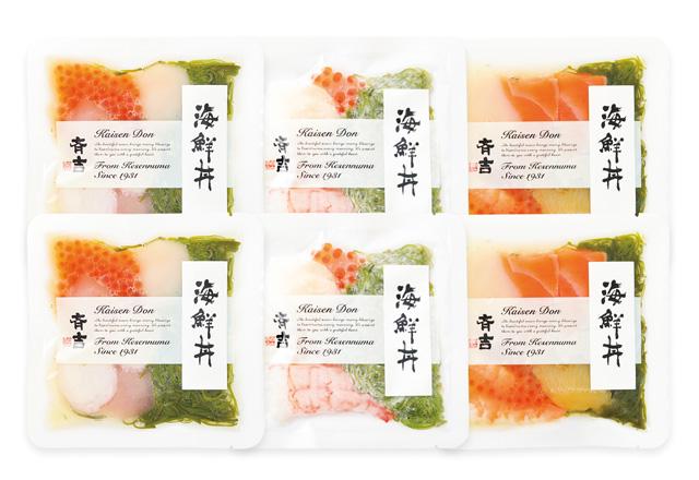 斉吉海鮮丼3種詰合せ