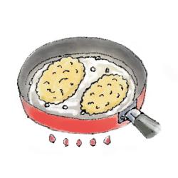 カツレツ焼き方2