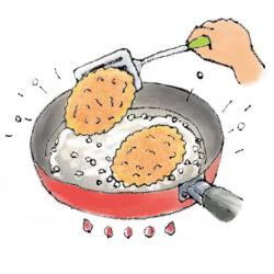 カツレツ焼き方3